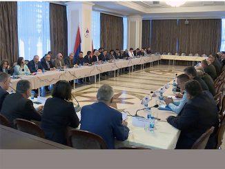 Održane završne konsultacije Vlade Republike Srpske sa socijalnim partnerima o izradi budžeta za narednu godinu i Programu ekonomskih reformi Republike Srpske za period 2018. do 2020. godine ( foto RTRS )