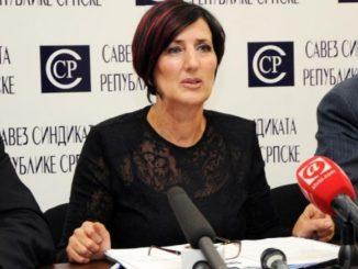 """Predsjednica Saveza sindikata Republike Srpske Ranka Mišić večeras gost u emisiji RTRS - a """" Specijal """""""