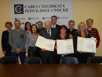 Održana Druga sjednica Republičkog odbora Sindikata metalske industrije i rudarstva Republike Srpske, uručene zahvalnice najboljim sindikalcima