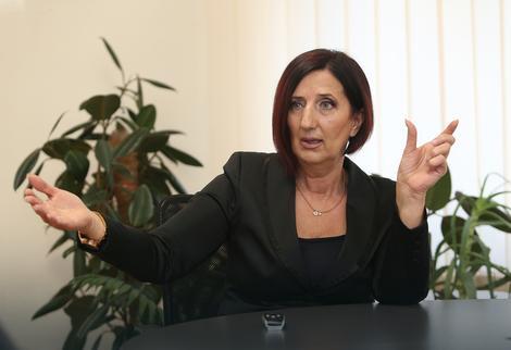"Intervju predsjednice Saveza sindikata Republike Srpske za "" EuroBlic "" i portal "" buka.com "" ( Foto "" EuroBlic "" )"