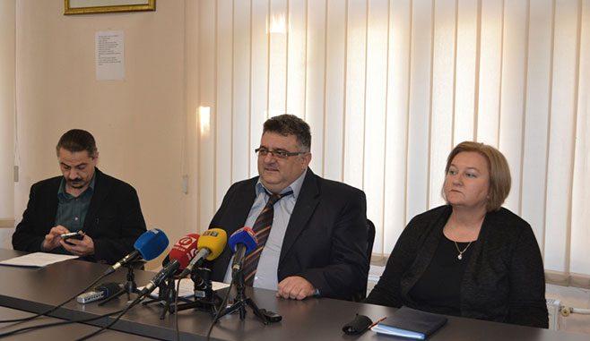Konferencija za štampu predsjednika Sindikata obrzovanja, nauke i kulture Republike Srpske ( Foto RTRS )