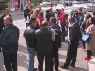 """Одржан протест радника """" Пут """" а.д. Бањалука"""