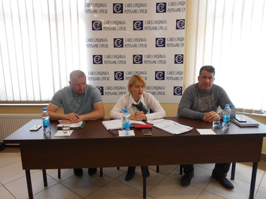 Регионалним састанцима је присуствовало око 70 предсједника синдикалних организација