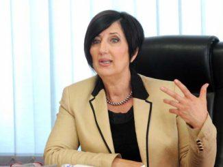 """Intervju predsjednice Saveza sindikata Republike Srpske Ranke Mišić """" Glasu Srpske """" povodom 1. maja ( Foto Glas Srpske )"""