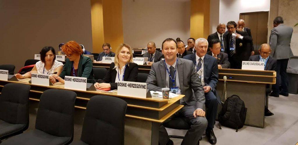 U delegacij BiH bila je i predsjednica SSRS Ranka Mišić i stručni saradnik za međunarodne odnose u SSRS Biljana Škrbić