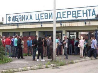 """Sastanak sa štrajkačkim odborom """" UNIS """" Derventa"""