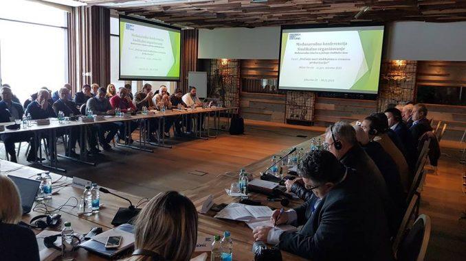 """Међународна конференција на тему """" Синдикално организовање - међународно искуство у јачању синдикалне базе """", Јахорина, 29. и 30 новембар 2018. године"""