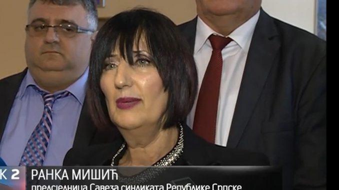 Састанак делегације ССРС предвођене предсједницом Ранком Мишић са премијером Радованом Вишковићем