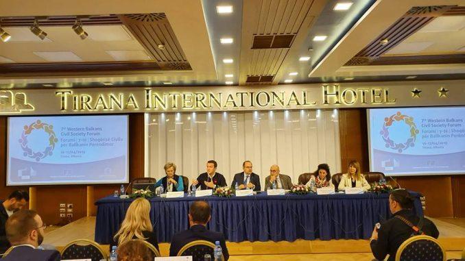 Седми форум цивилног друштва Западног Балкана 16. и 17. април 2019.године, Тирана