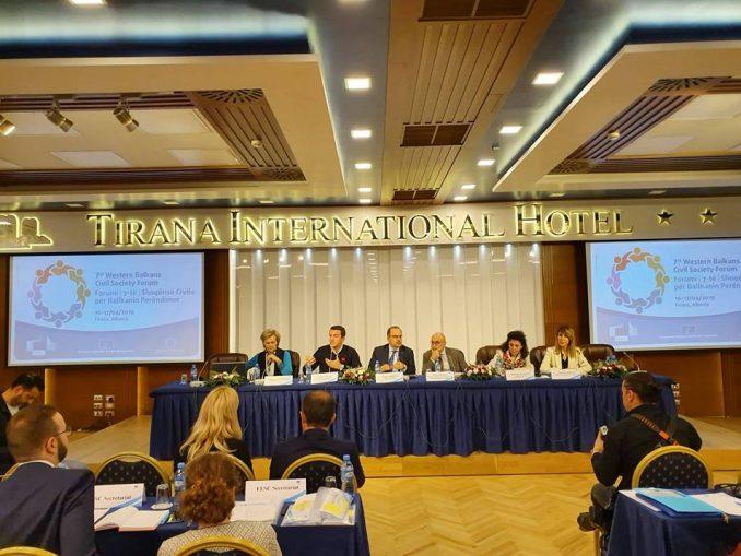 Sedmi forum civilnog društva Zapadnog Balkana 16. i 17. april 2019.godine, Tirana