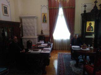 Predsjednik STUD Republike Srpske Goran Savanović sa Vladikom Jefremom o adekvatnom načinu praznovanja nastupajućih republičkih i vjerskih praznika
