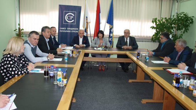 Do 15. maja stav Saveza sindikata Republike Srpske o novom Opštem kolektivnom ugovoru