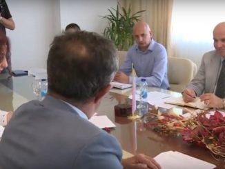 Представници Синдиката правосуђа на састанку у Влади РС (ФОТО - архива)