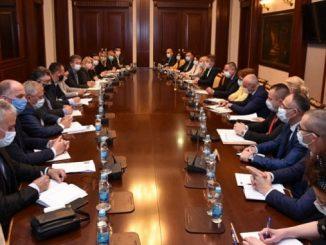 Састанак делегације Савеза синдиката РС са предсједником и министрима у Влади РС