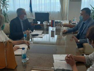 Predstavnici Sindikata saobraćaja i veza sa predstavnicima Ministarstva saobraćaja i veza Republike Srpske