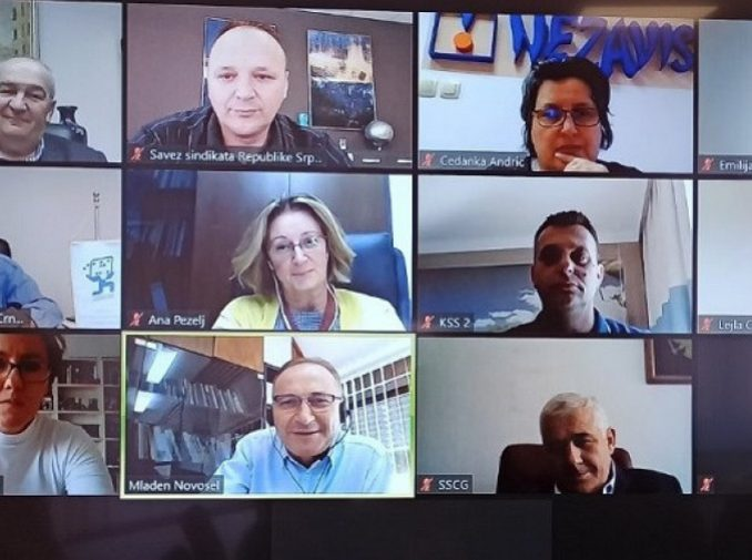 """Виртуални састанак Регионалног синдикалног савјета Солидарност - """"Пандемија и свијет рада"""""""