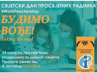 5. oktobar - Svjetski dan učitelja / prosvjetnih radnika