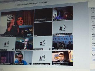 Виртуелни састанак Извршног одобра Пан-европског синдикалног савјета