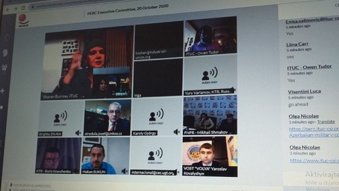 Virtuelni sastanak Izvršnog odobra Pan-evropskog sindikalnog savjeta