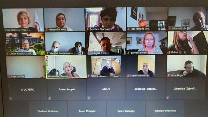 U toku je virtuelni sastanak članova Mreže o zaštiti na radu