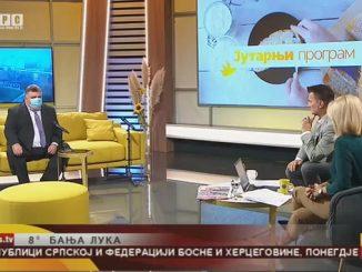 Dragan Gnjatić, predsjednik Sindikata ONK Republike Srpske gost Jutarnjeg programa RTRS